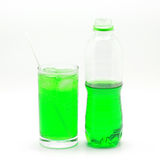 Green soft drink Stock Photos