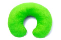 Green neck pillow isolated on white background Stock Photo