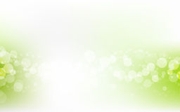 Green Soft Pastel Bokeh Pale White Abstract Background. Vector Illustration Stock Photo