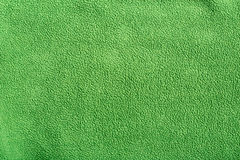 Green soft synthetic fleece Stock Images