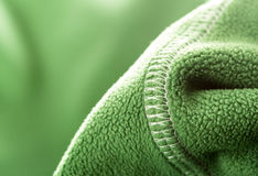 Green soft synthetic fleece Stock Photo