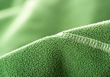 Green soft synthetic fleece Royalty Free Stock Photography