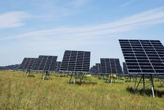 Green solar energy Stock Image