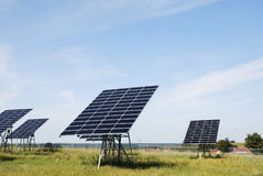 Green solar energy Stock Photography