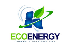 Green Solar Energy Logo Stock Image
