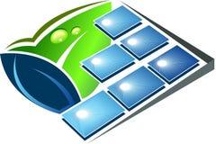 Green solar energy logo Royalty Free Stock Photos
