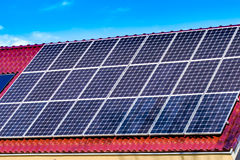 Green solar energy panels Royalty Free Stock Image