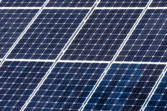 Green solar energy panels Royalty Free Stock Photography