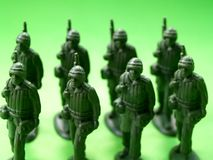 Green  Soldiers 2 Royalty Free Stock Photography