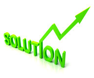 Green Solution Word Shows Success And Strategy Royalty Free Stock Photo