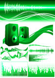 Green_sound_elements Stock Image