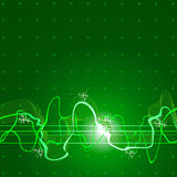 Green sound wave. Sound wave & tech green background Stock Images