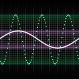 Green sound wave stock illustration