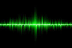 Green sound wave background. Green sound wave on black background Royalty Free Stock Photography