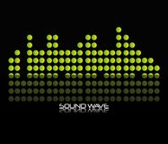 Sound wave design. Green sound wave icon over black background colorful design vector illustration Royalty Free Stock Image
