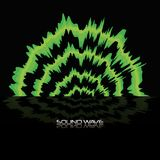 Sound wave design. Green sound wave icon over black background colorful design vector illustration Royalty Free Stock Photos