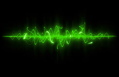 Green sound wave. Royalty Free Stock Images