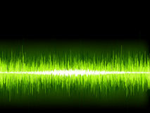 Green sound wave on white background. + EPS8 Royalty Free Stock Image