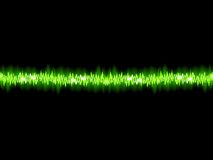 Green sound wave on white background.  Royalty Free Stock Images
