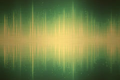 Green Sound Waves. Bars resembling sound waves on a green background royalty free stock image