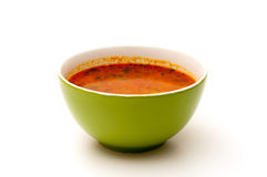 Green soup bowl Stock Images