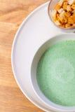 Green soup of broccoli Stock Photo