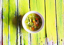Green soup photo Royalty Free Stock Image