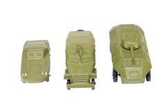 Green soviet tanks toy isolated on white Royalty Free Stock Photos