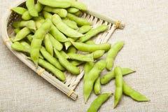 Green soybean stock photos