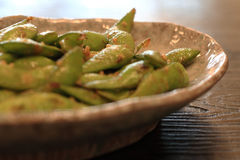 Green soybean or Edamame Royalty Free Stock Photos