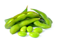 Green soybeans Stock Photos
