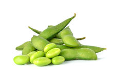 Green soybeans Royalty Free Stock Image