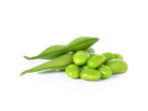 Green soybeans Stock Photo