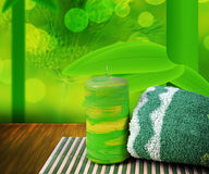 Green Spa Background Royalty Free Stock Photos