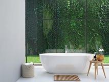 Green spa badkamers het 3d teruggeven Stock Fotografie