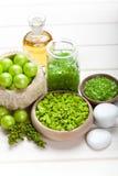 Green spa - bath salt Stock Photography