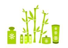Green spa cosmetics Royalty Free Stock Image