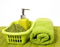 Green spa. On whight background Stock Images