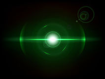 Green Space explosion, cosmos burst. Space explosion, cosmos burst. Colored bang on deep dark background Royalty Free Stock Images