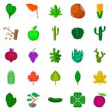 Green space icons set, cartoon style. Green space icons set. Cartoon set of 25 green space vector icons for web isolated on white background Stock Images