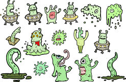 Green space monsters Stock Images