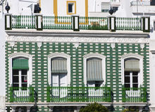 Green spanish balcony Stock Images
