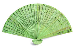 Green spanish fan Royalty Free Stock Photography