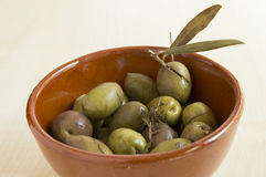 Green spanish olives Stock Photography