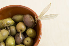 Green spanish olives Stock Photo