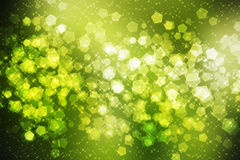 Green Sparkle Background Stock Photos