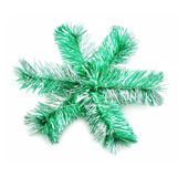 Green sparkle snowflake. Isolated on a white background Stock Photography