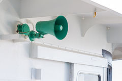 Green speaker Stock Image
