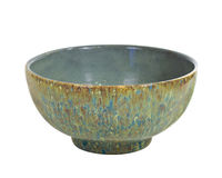 Green Speckled Bowl Stock Photography