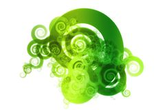 Green Spectrum Color Blend Abstract Design Backgro. Und on White royalty free illustration